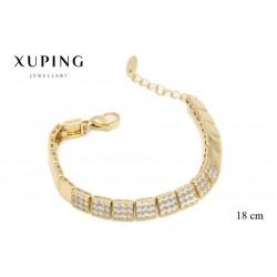 Bransoletka pozłacana 18k - Xuping - MF2602
