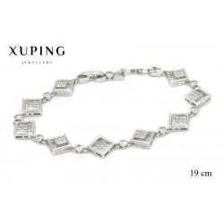Bransoletka rodowana - Xuping - MF1323