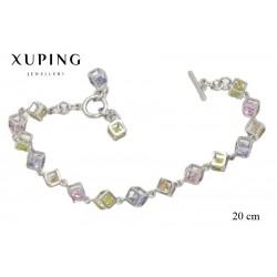 Bransoletka rodowana - Xuping - MF1399