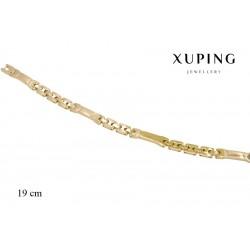 Bransoletka pozłacana 18k - Xuping - MF2726