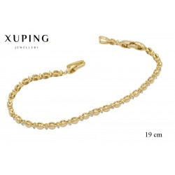 Bransoletka pozłacana 18k - Xuping - MF2872