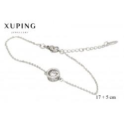Bransoletka rodowana - Xuping - MF3855