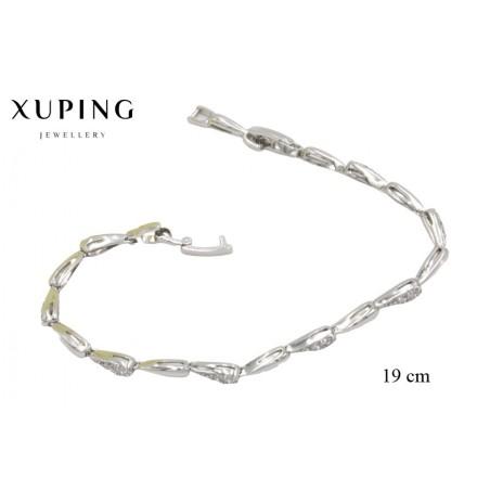 Bransoletka rodowana - Xuping - MF3858