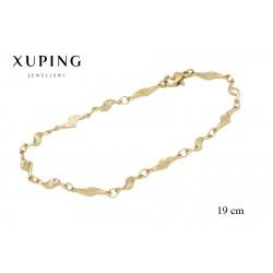 Bransoletka pozłacana 18k - Xuping - MF0991