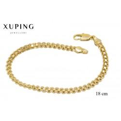 Bransoletka pozłacana 18k - Xuping - MF2460