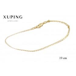 Bransoletka pozłacana 18k - Xuping - MF2680