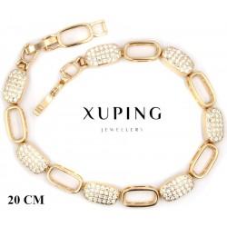 Bransoletka pozłacana 18k - Xuping - MF4205