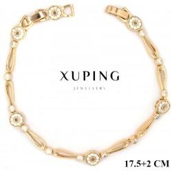 Bransoletka pozłacana 18k - Xuping - MF2932-2