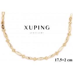 Bransoletka pozłacana 18k - Xuping - MF2855