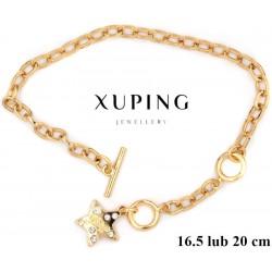 Bransoletka pozłacana 18k - Xuping - MF2856