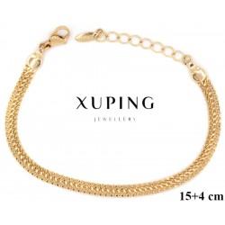 Bransoletka pozłacana 18k - Xuping - MF2875