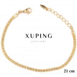 Bransoletka pozłacana 18k - Xuping - MF2918