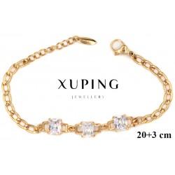 Bransoletka pozłacana 18k - Xuping - MF4201