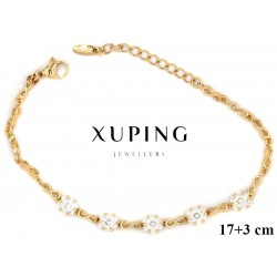 Bransoletka pozłacana 18k - Xuping - MF4203