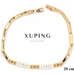 Bransoletka pozłacana 18k - Xuping - MF4206