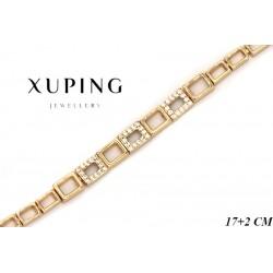 Bransoletka pozłacana 18k - Xuping - MF4289