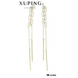 Kolczyki pozłacane 18k - Xuping - MF4158