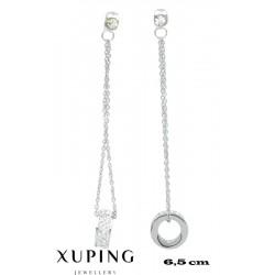 Kolczyki rodowane Xuping - MF4157
