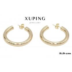 Kolczyki pozłacane 18k - Xuping - MF4091
