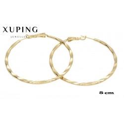 Kolczyki pozłacane 18k - Xuping - MF4090
