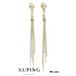 Kolczyki pozłacane 18k - Xuping - MF4213