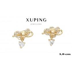 Kolczyki pozłacane 18k - Xuping - MF4228