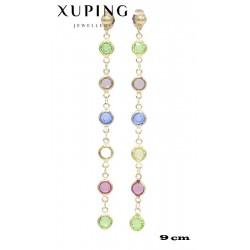 Kolczyki pozłacane 18k - Xuping - MF4219