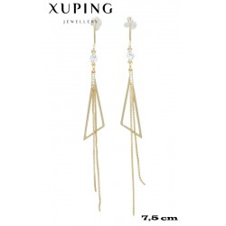 Kolczyki pozłacane 18k - Xuping - MF4218