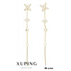 Kolczyki pozłacane 18k - Xuping - MF4268-1
