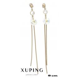 Kolczyki pozłacane 18k - Xuping - MF4315