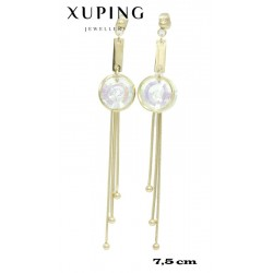 Kolczyki pozłacane 18k - Xuping - MF4302