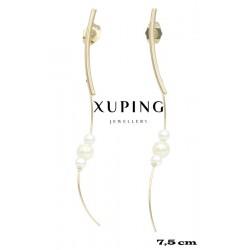 Kolczyki pozłacane 18k - Xuping - MF4297