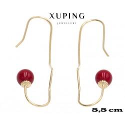 Kolczyki pozłacane 18k - Xuping - MF4301
