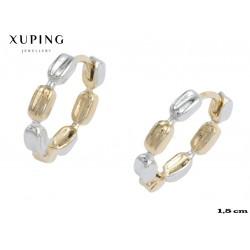 Kolczyki pozłacane 18k - Xuping - MF4155