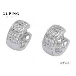 Kolczyki pozłacane 18k - Xuping - MF4120