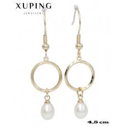 Kolczyki pozłacane 18k - Xuping - MF4298
