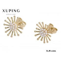 Kolczyki pozłacane 18k - Xuping - MF4296