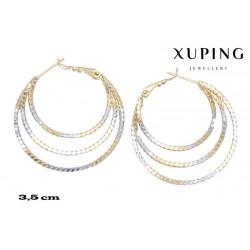 Kolczyki pozłacane 18k - Xuping - MF4063