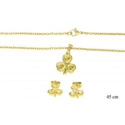 Komplet biżuterii ze stali chirurgicznej - LS12395