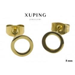 Kolczyki ze stali chirurgicznej Xuping 14k - MF5323GC