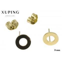Kolczyki ze stali chirurgicznej Xuping 14k - MF5323G