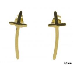 Kolczyki ze stali chirurgicznej Xuping 14k - MF5322G