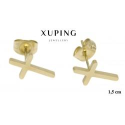 Kolczyki ze stali chirurgicznej Xuping 14k - MF2131GA