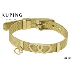 Bransoletka ze stali chirurgicznej Xuping 14k - MF5983