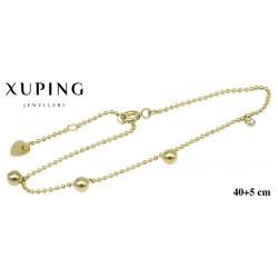 Bransoletka ze stali chirurgicznej Xuping 14k - MF5979