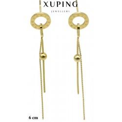 Kolczyki ze stali chirurgicznej Xuping 14k - MF5820