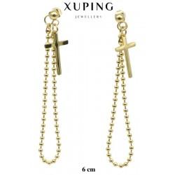Kolczyki ze stali chirurgicznej Xuping 14k - MF5342
