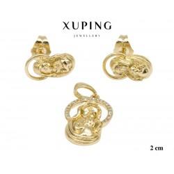 Przywieszka + kolczyki pozłacane Xuping 18k - MF6047