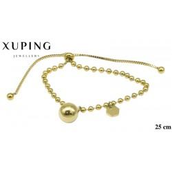 Bransoletka ze stali chirurgicznej Xuping 14k - MF6997
