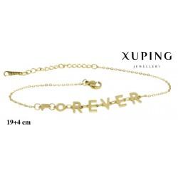 Bransoletka ze stali chirurgicznej Xuping 14k - MF6959